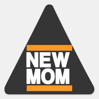 Laranja nova da mamã adesivo triangular