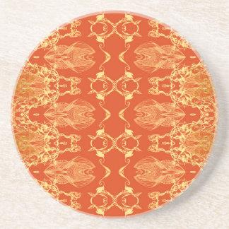 laranja porta-copos de arenito