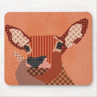 Laranja retro Mousepad da rena