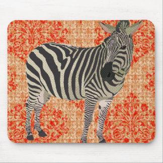 Laranja retro Mousepad da zebra II