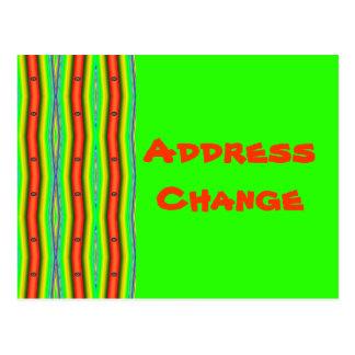 laranja verde-clara da mudança do endereço cartão postal