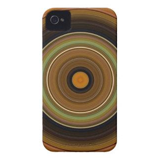 Laranja verde de Brown do círculo hipnótico Capa Para iPhone 4 Case-Mate