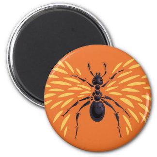 Laranja voada do amante do inseto da formiga imã