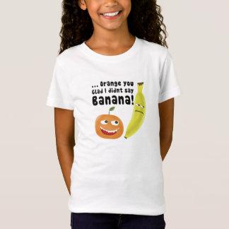 Laranja você contente camiseta