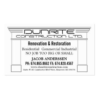 Lareira Envoltório Construção Reno Empresa Cartão De Visita