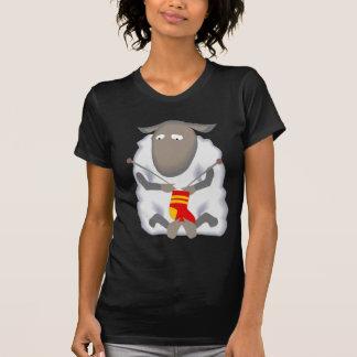 Lãs de confecção de malhas da peúga dos carneiros t-shirt
