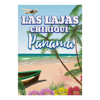 Las Lajas, poster de viagens da praia de Chiriquí
