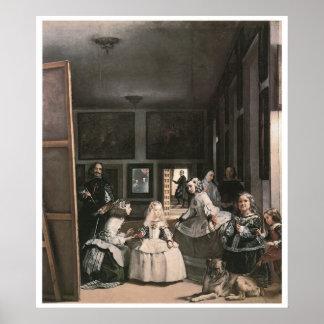 Las Meninas, c.1656 Diego Velasquez Pôster