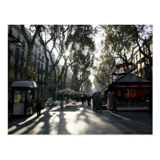 Las Ramblas, Barcelona, cartão