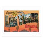 Las Vegas, Nevada - grandes cenas da letra Cartões Postais