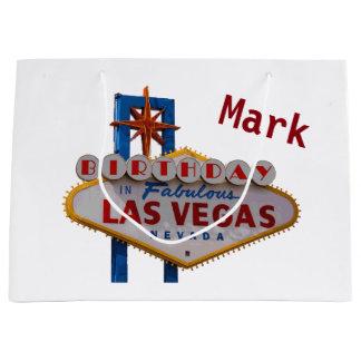 Las Vegas personalizou o saco do presente de Sacola Para Presentes Grande