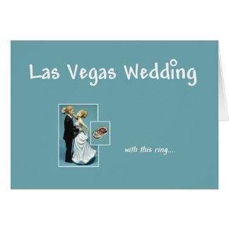 Las Vegas que Wedding, com estes anel, noiva & Cartão Comemorativo