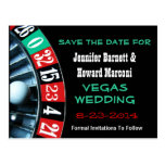 Las Vegas que Wedding economias o cartão da data Cartões Postais
