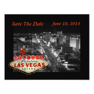 Las Vegas que Wedding economias o cartão de data Convite 10.79 X 13.97cm