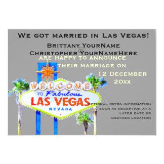 Las Vegas que Wedding o anúncio Convite 12.7 X 17.78cm