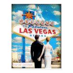 Las Vegas que Wedding o convite Cartao Postal