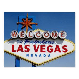 Las Vegas que Wedding o modelo - faça seus Convite 10.79 X 13.97cm