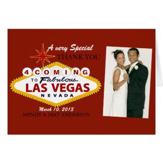 Las Vegas que Wedding o obrigado você cartões com