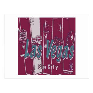 Las Vegas Sin City Cartão Postal