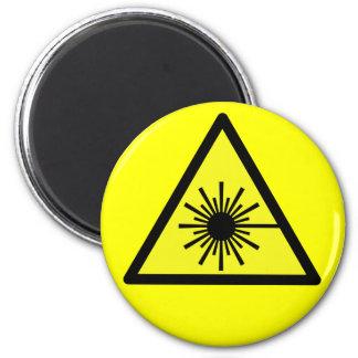 Laser_Radiation Ímã Redondo 5.08cm