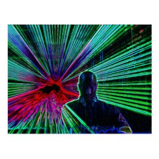 Lasers no cartão do DJ