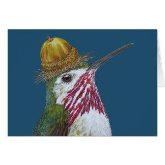 Lasque o cartão do colibri