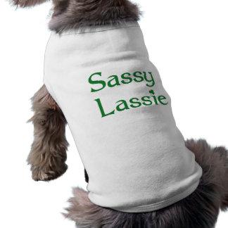 Lassie Sassy Camisa Sem Mangas Para Cachorro