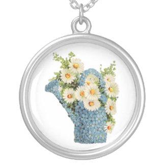 Lata molhando da flor bijuterias