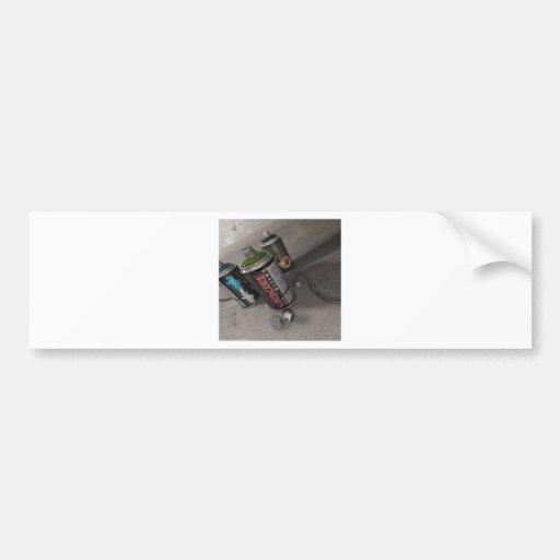 Latas legal do pulverizador dos grafites do abstra adesivo