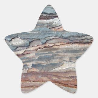 Latido carbonizado do pinho adesivo estrela