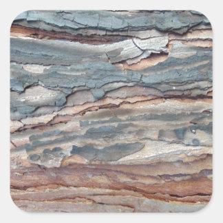 Latido carbonizado do pinho adesivo quadrado