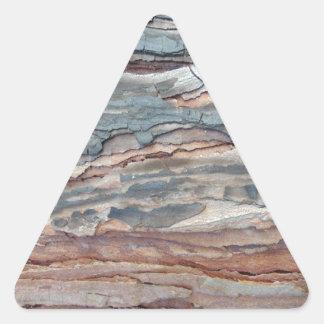 Latido carbonizado do pinho adesivo triangular