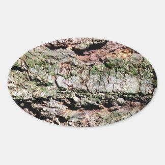 Latido de árvore adesivo oval