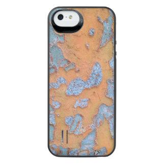 Latido de árvore alaranjado e azul capa carregador para iPhone SE/5/5s