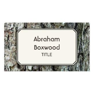 Latido velho de madeira customizável botânico cartão de visita