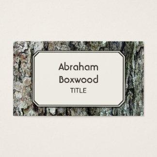 Latido velho de madeira customizável botânico cartão de visitas