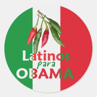 LATINOS de Obama Adesivo Redondo