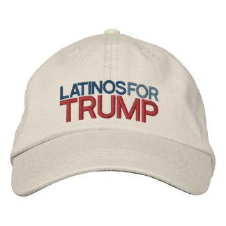 Latinos para o trunfo boné bordado