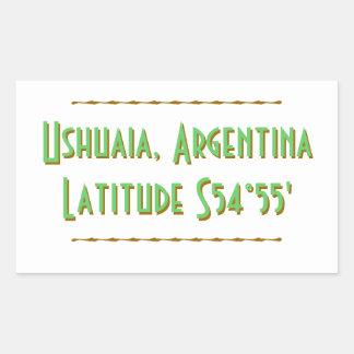 Latitude de Ushuaia Argentina Adesivo Retangular