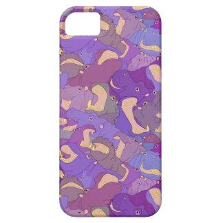 Laughing Hippos - purple Capa Para iPhone 5