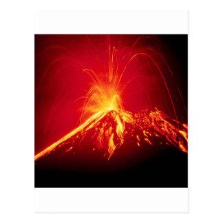 Lava quente do vulcão Costa Rica 1991 Cartões Postais