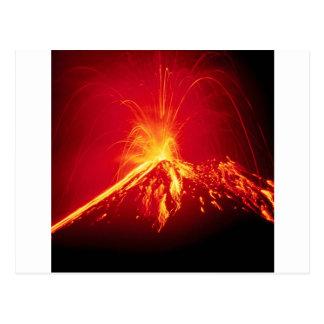 Lava quente do vulcão Costa Rica 1991 Cartão Postal