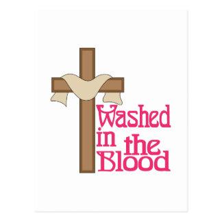 Lavado no sangue cartão postal
