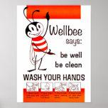 LAVAGEM do CDC de Wellbee SEU poster da propaganda