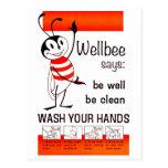 LAVAGEM do CDC de Wellbee SEU poster da propaganda Cartões Postais