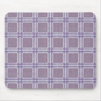 Lavanda, ameixa e roxo da xadrez mouse pad