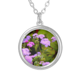 Lavanda bonita e colar cor-de-rosa do Wildflower