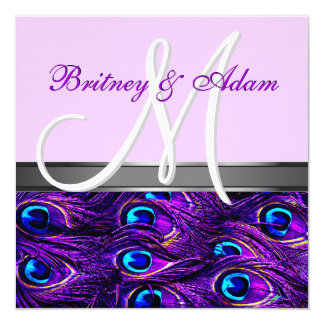 Lavanda & convites roxos do casamento do pavão