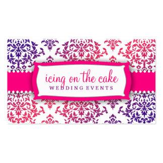 Lavanda cor-de-rosa da cereja sobre o bolo 311 cartão de visita