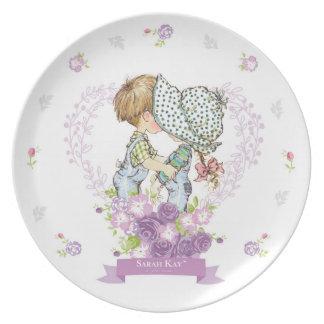 Lavanda da placa #3 da porcelana de Sarah Kay Prato